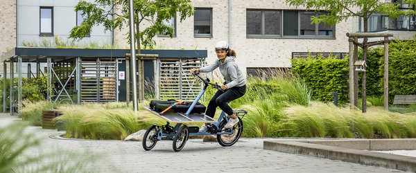 Chike E-Cargo Lastenrad in Aktion